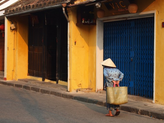 Lady in a conical hat, Tran Phu, Hoi An, Viet Nam