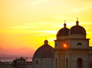 Yellow sunset over Cagliari, Sardinia