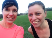 Cold Christmas park run with my sister