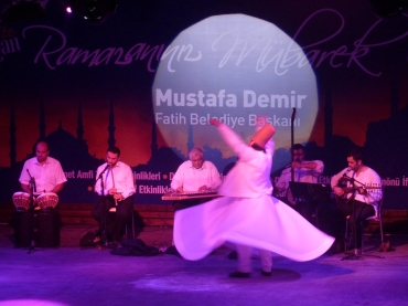 Watching Dervishes dance in Istanbul
