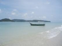 Swimming on beautiful tropical beaches in Malaysia